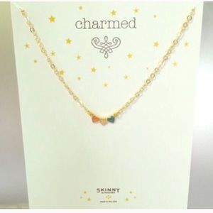 NWT triple heart necklace